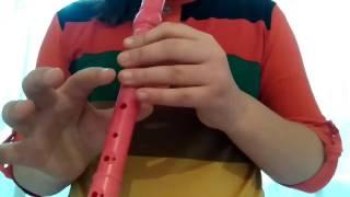 Flüt ile küçük Fidan şarkısı çalınışı