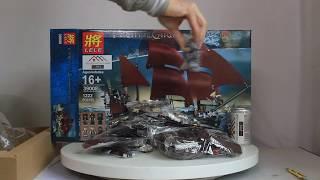 Mở hộp Lele 39008 Lego Pirates 4195 Queen Anne's Revenge  giá sốc rẻ nhất