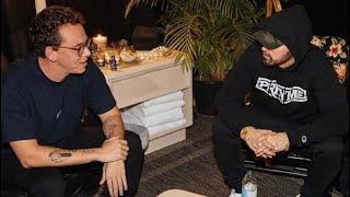 """Logic Meets Eminem For The First Time """"Gets Emotional Backstage"""""""