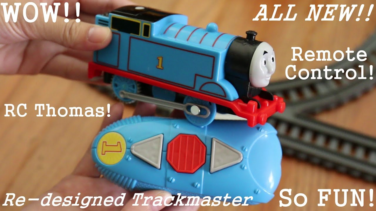 The All New Re-designed Remote Control Trackmaster Thomas the Tank Engine - YouTube