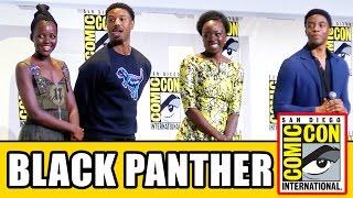 BLACK PANTHER Comic Con Panel - Chadwick Boseman, Lupita Nyong'o, Danai Gurira, Michael B. Jordan