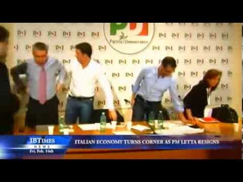 Italian Economy Turns Corner as PM Letta Resigns