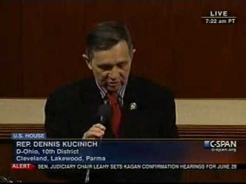 Kucinich speech regarding Gulf oil spill