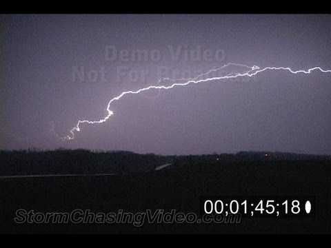 4/13/2010 Central Minnesota Lightning B-Roll stock footage