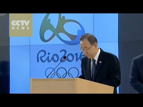 Ban Ki-moon and Bach welcome Olympic flame