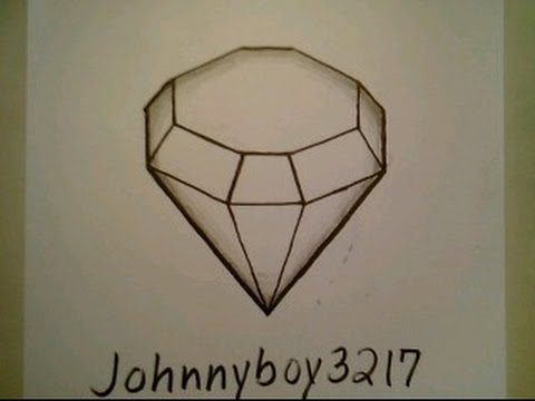 How To Draw A Diamond Old Single Cut 3D Easy Optical Illusion Rihanna Step By Step