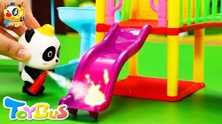 Action! Super Panda Firefighters | Fireman Story | Super Rescue Team | Kids Role Play | ToyBus