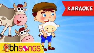 Little Boy Blue Song Karaoke | Nursery Rhymes | Kids Songs [Ultra 4K Music Video]
