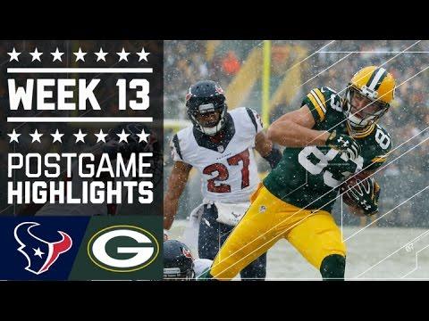 Texans Vs Packers Nfl Week 13 Game Highlights