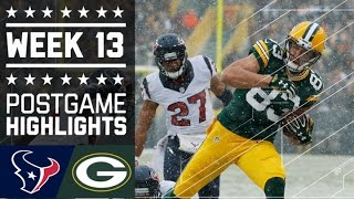 Texans vs. Packers   NFL Week 13 Game Highlights