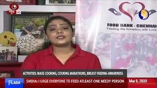 An inspiring story of Sneha Mohandas; who runs ''Food Bank'' to feed poor