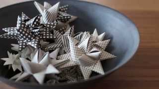 How to fold a Scandinavian Christmas star
