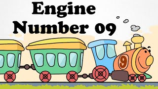 🚂 Engine Number 09 | Cartoon Nursery Rhymes Songs For Children | 🚂