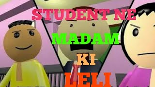 Romantic student and medam jokes fun// class room in baketi part 2 //funny video##funny jokes##