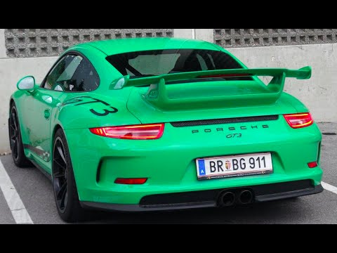 Green Porsche 991 Gt3 Youtube