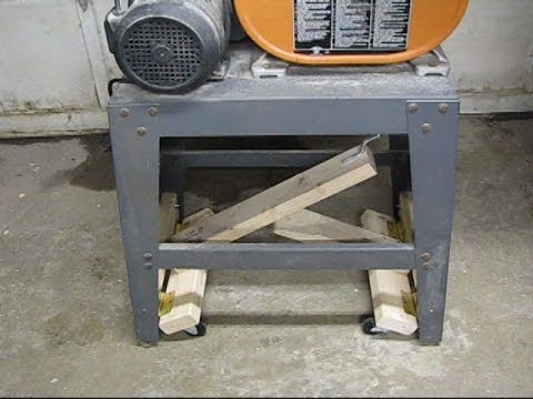 Lever Action Mobile Bandsaw Base Youtube