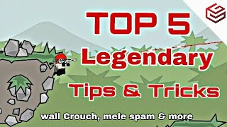 Mini Militia : TOP 5 Legendary Tips and Tricks : Wall Crouch, Melee Spam, sniper tips, Rpg and more