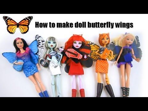 How to make butterfly wings for your Monster High.Barbie and Winx dolls - EP