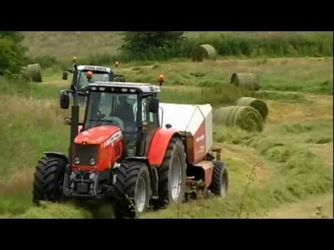 Mowing. baling and wrapping silage - Co. Donegal