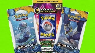 Pokemon TCG - Sun and Moon Booster packs + Mystery Box