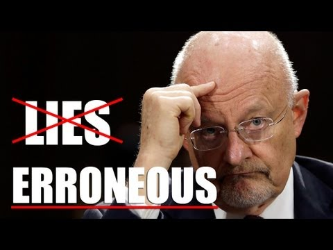 "NSA's Clapper Calls His Lies ""Erroneous"""