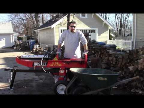 Huskee 22 ton Log Splitter Review