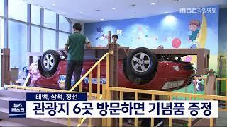 투/태백삼척정선 관광지 연계 이벤트 진행