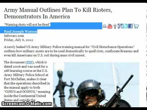 Army Manual Outlines Plan To Kill Americans And Put Them In Concentration Camps!