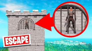 ESCAPE From The TALLEST PRISON TOWER! (Fortnite)