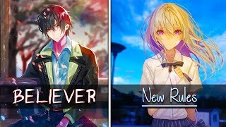 Download Lagu Switching Vocals - Believer VS New Rules [Nightcore] Gratis STAFABAND