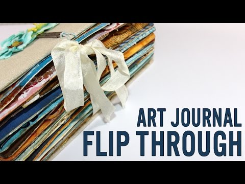 Art Journal flip through and how-to expand the book spine