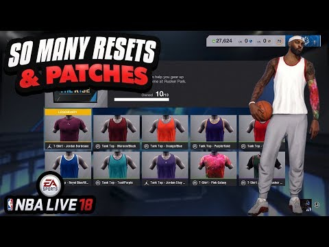 NBA LIVE 18 DEMO I RESET MY CHARACTER 30 TIMES! WHY ARE THERE SO MANY PATCHES? | THE RISE CRATES