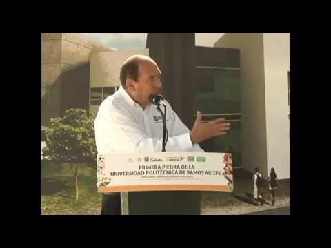 Coloca Rubén Moreira primera piedra de la Universidad Politecnica Ramos Arizpe