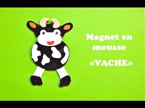 bricolage enfant magnet vache en mousse youtube. Black Bedroom Furniture Sets. Home Design Ideas