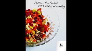 Proten Pro Veg Salad - Natural - Sprouts Salad - प्रोटीन सलाद -  પ્રોટીન કચુંબર - Priti's Recipes