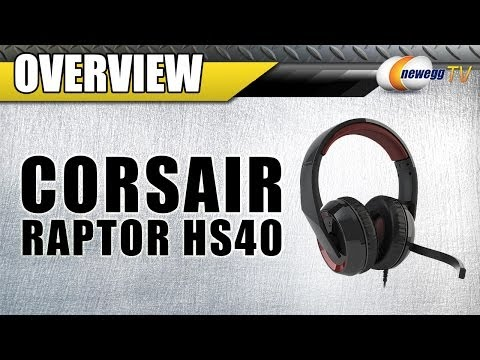Corsair Raptor HS40 USB Connector Circumaural 7.1 Gaming Headset Overview - Newegg TV