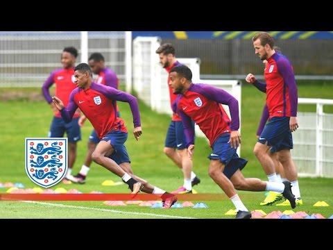 England warm-up ahead of Iceland (Euro 2016) | Inside Training