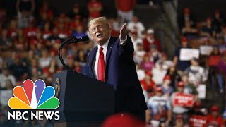 President Donald Trump Mocks Man At Rally: 'That Guy's Got A Serious Weight Problem' | NBC News