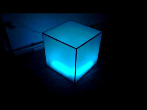 homemade ikea dioder acrylic rgb led cube youtube. Black Bedroom Furniture Sets. Home Design Ideas