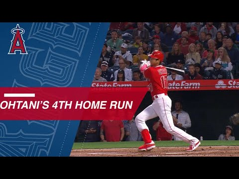 Ohtani connects for his 4th home run of the season