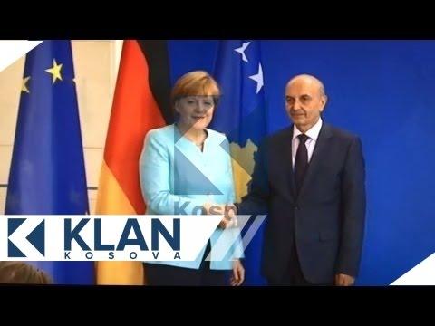 Isa Mustafa takohet me Angela Merkel - 30.06.2015 - Klan Kosova