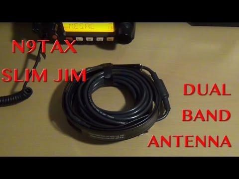 Ham Radio Antenna - N9TAX Slim Jim Dual Band Antenna Review