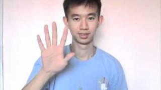 Malaysia Sign Language Number