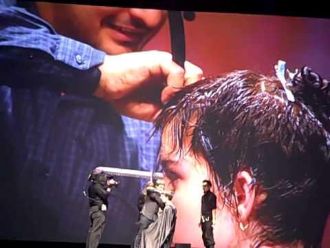 Angelo Seminara's Short Razor Cut at Davines World Wide Tour Hairshow