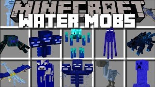 Minecraft SCARY WATER MOBS MOD / EVIL WATER CREATURES APPEAR!! Minecraft