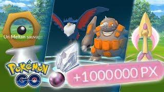 ÉVOLUTIONS 4G, CRESSELIA, MELTAN & 1 MILLION D'XP !! - Pokémon GO
