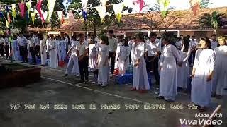 """Toàn thể khối 12 múa """" Ngôi Nhà Nhỏ Hạnh Phúc To """" Trường THPT Nguyễn Công Trứ ( Đức Hòa - Long An )"""