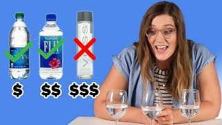 People Guess Cheap Vs. Expensive Water