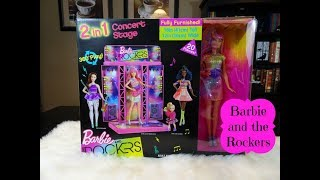 Barbie and the Rockers 2-in-1 Concert Stage Playset Unboxing & Review