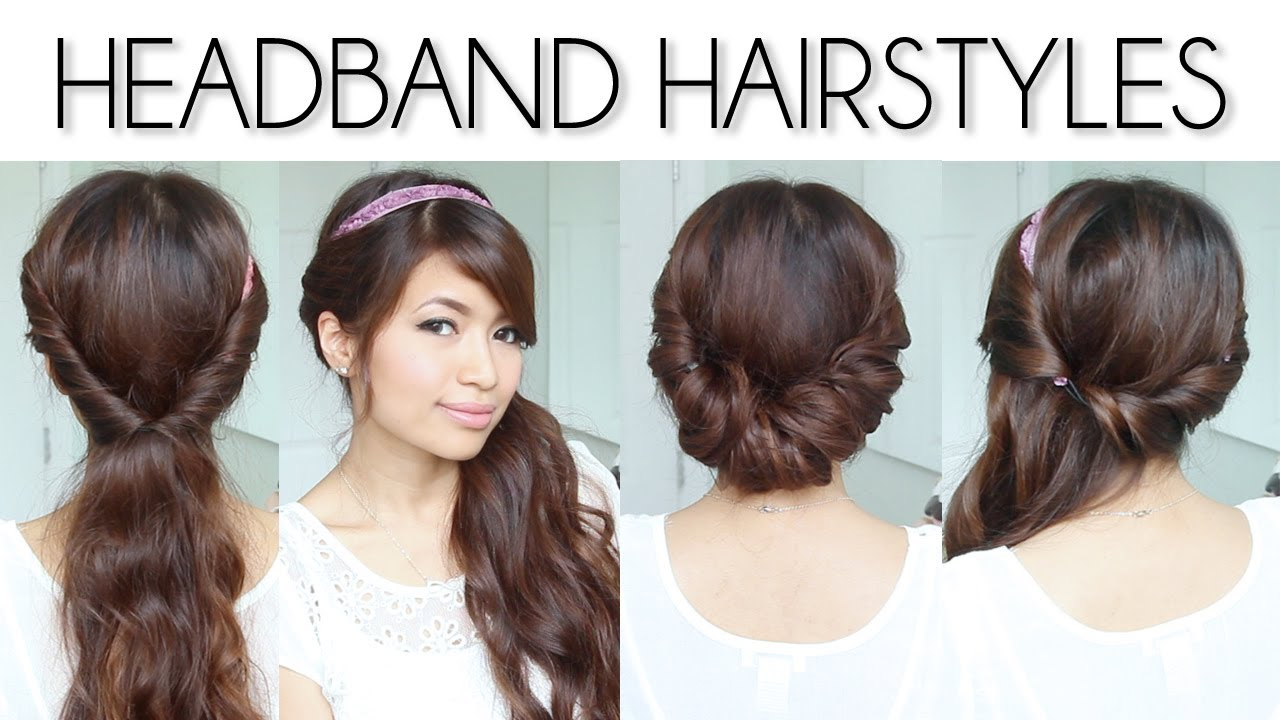 Easy Everyday Headband Hairstyles for Short and Long Hair Tutorial ...